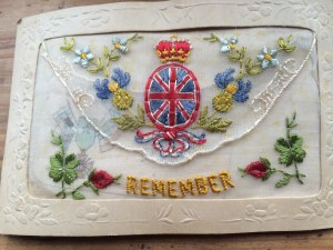 Picture of WW1 silk postcard 'Remember'