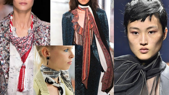 spring summer trends scarves as neckwear