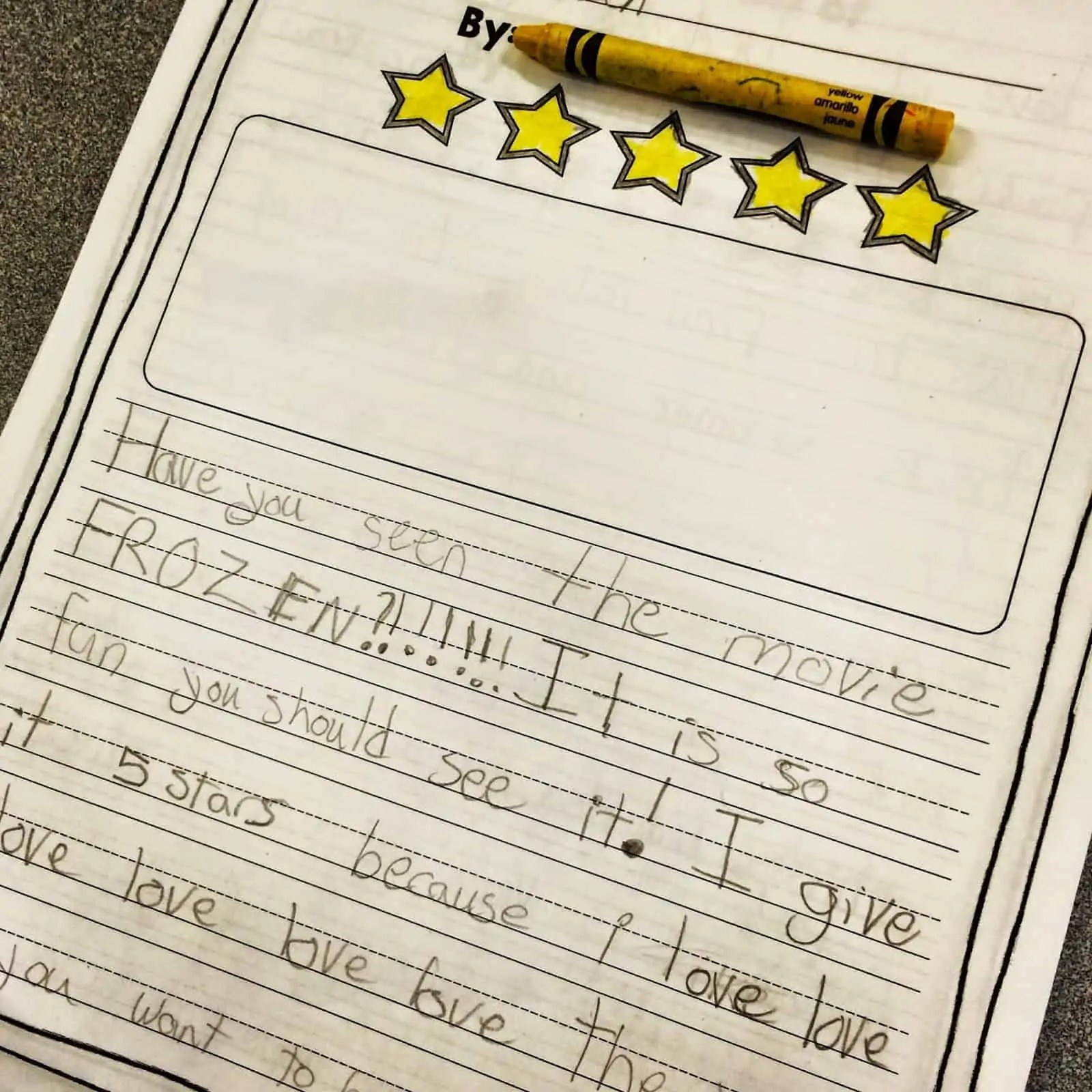 Writing Reviews In 1st Or 2nd Grade Opinion Writing Fun