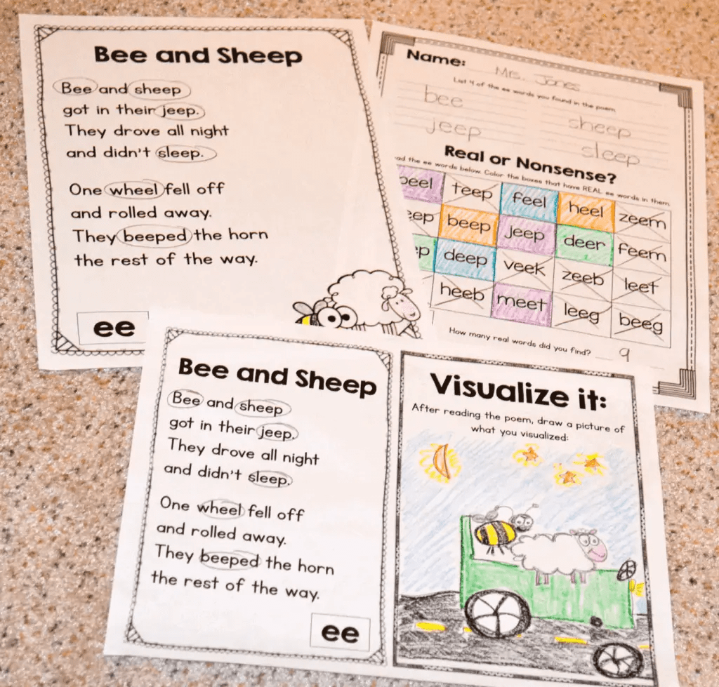 Phonics Poetry For Grades K 2
