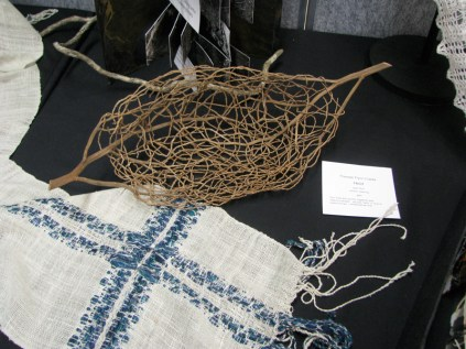 woven scarf and basket