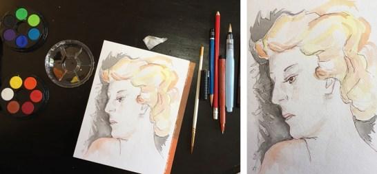 6 watercolor study