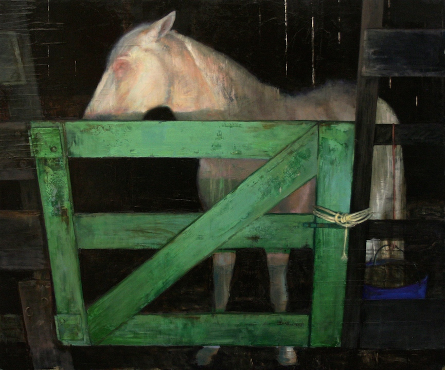 Puerta Verde *, oil on linen, 42 x 50 in, 2014  Image courtesy of the artist.