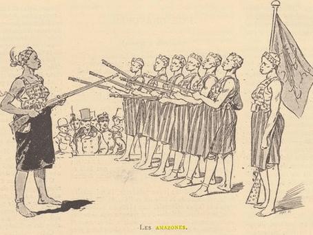 Selika Dahomey Amazons rifle drill