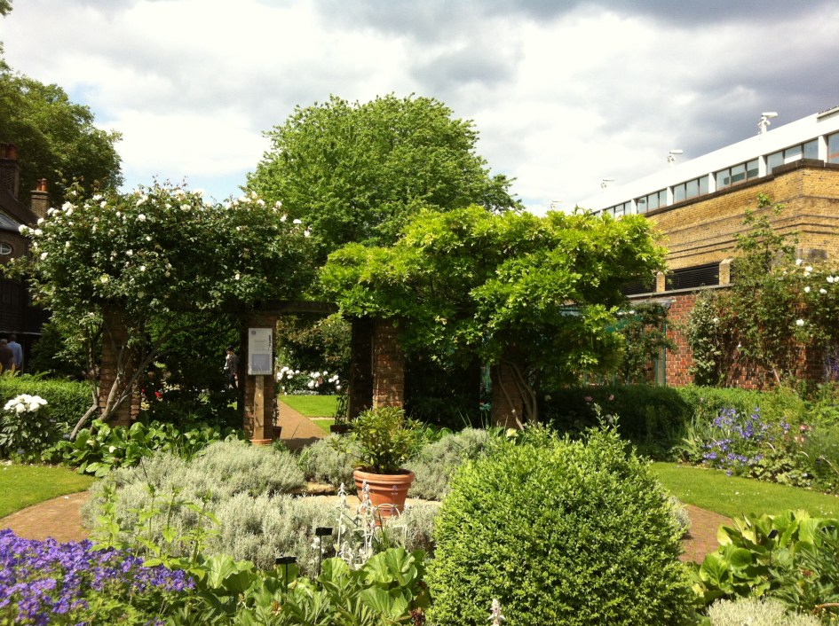 The gardens of the Geffrye Museum, London