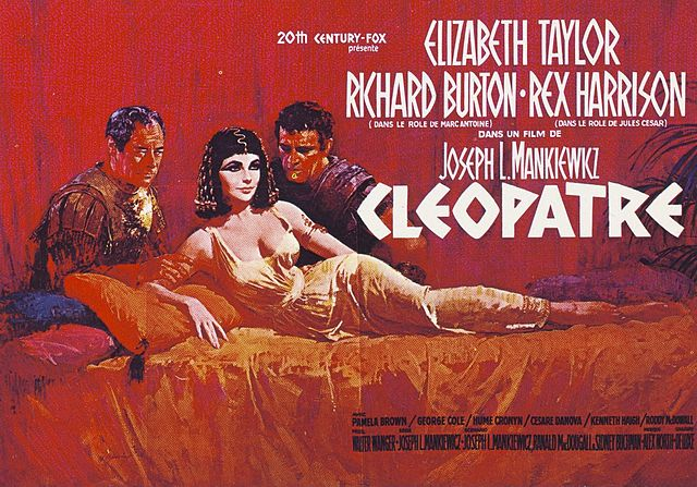 French poster for Cleopatra (1963), starring Elizabeth Taylor