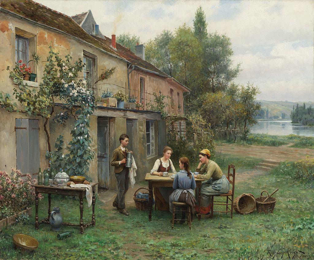 Daniel Ridgway Knight - Coffee in the garden