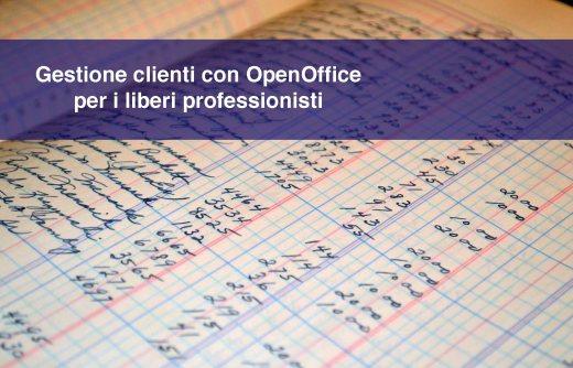 Gestione clienti con OpenOffice per i liberi professionisti