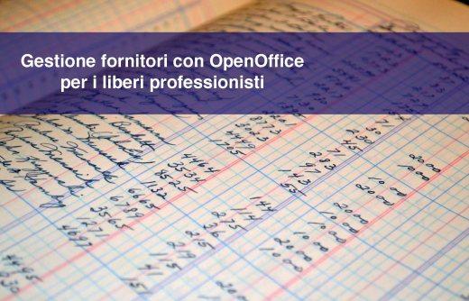 Gestione dei fornitori con OpenOffice: strumenti per liberi professionisti