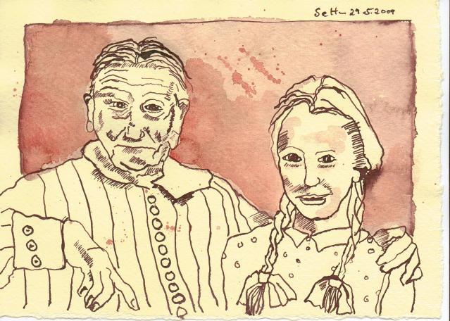 Alt und Jung - Zeichnung von Susanne Haun