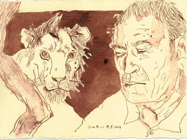 Ich wünschte, er würde schlafen - zeichnung von Susanne Haun