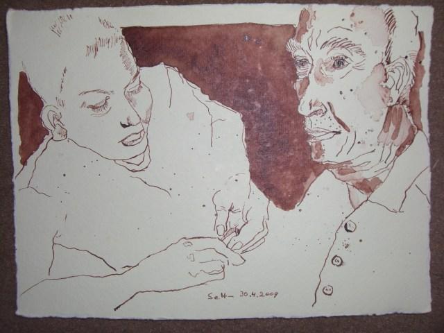 Der alte Mann und das Meer - Das Meer - Zeichnung von Susanne Haun