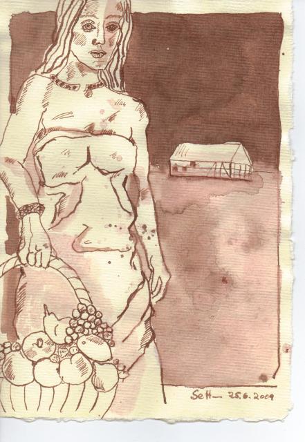 Es war kein Mangel - Zeichnung von Susanne Haun