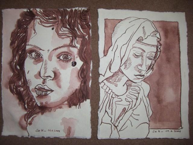 Portraits - Zeichnungen von Susanne Haun