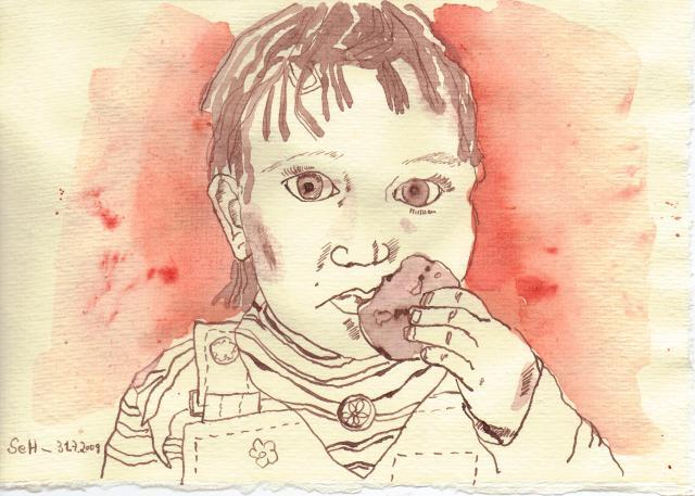 Marieke - Zeichnung von Susanne Haun