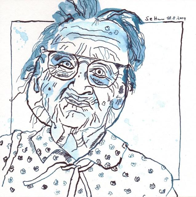 Cordulas Oma - Zeichnung von Susanne Haun