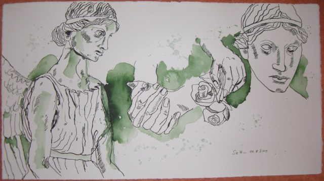 Engelstudie - Zeichnung von Susanne Haun