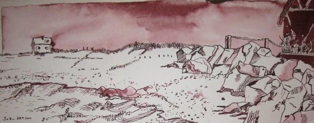 Heiligenhafen - Zeichnung von Susanne Haun