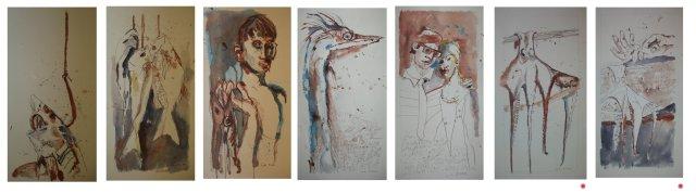 """""""Fisch-Serie"""" - Zeichnungen von Susanne Haun"""