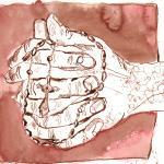 Rosenkranz - Zeichnung von Susanne Haun