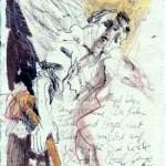Das Buch Henoch - Engel 11 - Zeichnung von Susanne Haun - 20 x 15 cm - Tusche und Buntstift auf Bütten