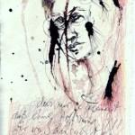 Das Buch Henoch - Engel 2 - Zeichnung von Susanne Haun - 20 x 15 cm - Tusche und Buntstift auf Bütten