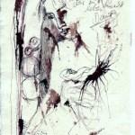 Das Buch Henoch - Engel 9 - Zeichnung von Susanne Haun - 20 x 15 cm - Tusche und Buntstift auf Bütten