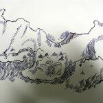 Ausschnitt 2 Zeichnung Wolken von Susanne Haun