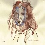 Kelte 2 - Zeichnung von Susanne Haun - 30 x 20 cm - Tusche und Aquarell auf Bütten
