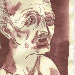 Schliemann Priamos Blatt 1 - Zeichnung von Susanne Haun - Tusche auf Bütten - 20 x 15 cm