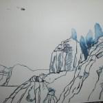 Ausschnitt Zeichnung Wolken von Susanne Haun