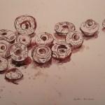 Spinnwirtel - Zeichnung von Susanne Haun - 26 x 36 cm - Tusche auf Bütten
