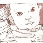 Melvin - Zeichnung von Susanne Haun - 20 x 30 cm - Tusche auf Bamboo Papier
