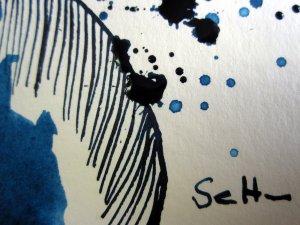 Signatur von Susanne Haun - Tusche auf Bütten