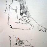 Akt 5 vom 25.4.2010 - Zeichnung von Susanne Haun - 42 x 59,4 cm - Kohle auf Römerturm Skizzenpapier
