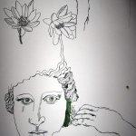 Anemonen mit Gesicht - Ausschnitt Rolle Susanne Haun (50 cm)