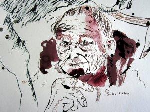 Das Alter - Zeichnung von Susanne Haun - 20 x 30 cm - Tusche auf Bütten