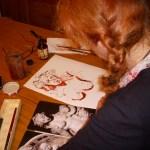 Ich zeichne am Küchentisch - Foto von Manfred Geipel