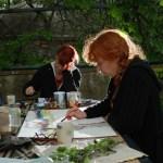 Konzentration beim Malen - Foto von Manfred Geipel