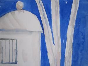 Komposition Backofen in der Toskana von Susanne Haun - 30 x 40 cm