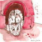 Snoopy - Hamster von Suzy, Zeichnung von Susanne Haun - 20 x 20 cm - Tusche auf Bütten