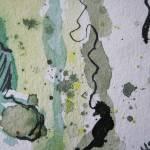Ausschnitt 2 aus Baumrinde, Zeichnung von Susanne Haun