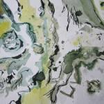 Baumrinde - Zeichnung von Susanne Haun - 17 x 24 cm - Tusche und Aquarell auf Bütten