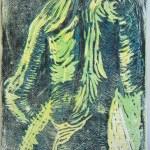 Akt mit Handtuch - Linoldruck von Susanne Haun - 10/12 - 18 x 13 cm
