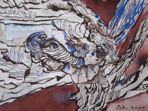 Baum - Zeichnung von Susanne Haun - 17 x 24 cm - Tusche auf Bütten