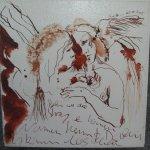 Engelgespräch - Zeichnung von Susanne Haun - 20 x 20 cm - Tusche auf Leinwand - gefirnist