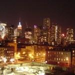 Blick aus unserem Hotelzimmer zum Empire State Building bei Nacht - Foto von Susanne Haun