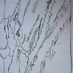 Der Bademantel wärmt - Zeichnung von Susanne Haun - 20 x 15 cm - Tusche auf Bütten