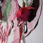 Ausschnitt Fuchsie mit Schattenspiele 3 - Zeichnung von Susanne Haun