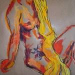 A. mit Tatoo - Zeichnung von Susanne Haun - 60 x 80 cm - Acryl und Ölkreide auf Packpapier